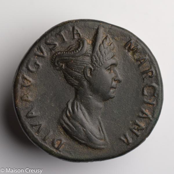 Marciane sesterce frappé vers 112