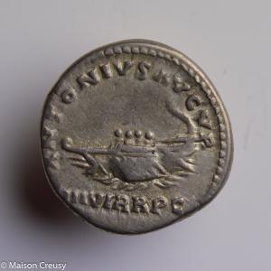 Marc Antoine denier restitution frappé à Rome en 168-169
