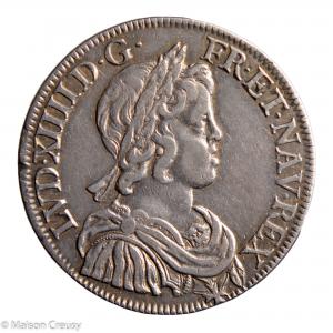 Louis XIV 1/2 écu à la mèche courte 1644 Paris