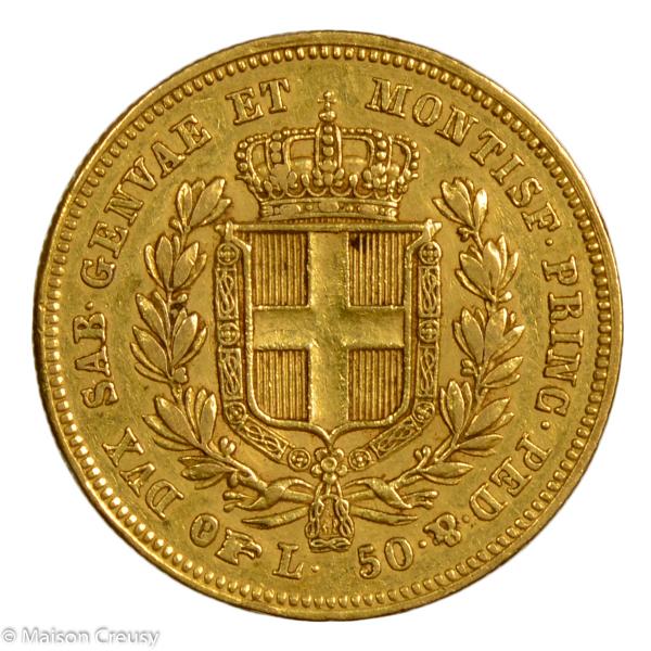 Sardaigne 50 lire 1836 Turin