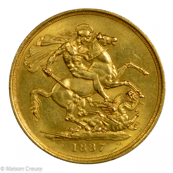 Angleterre Victoria 2 pounds 1887