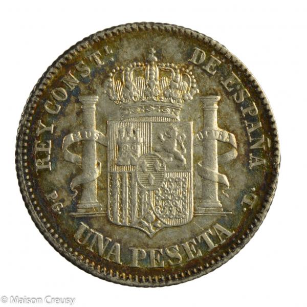 Espagne Peseta 1893