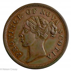 Canada Nouvelle Ecosse Penny Token 1840