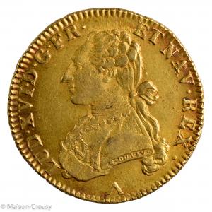 Louis XVI Double louis au buste habillé 1777 Lille