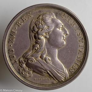 Medaille de Louis XVI 1777 renouvellement des accords avec la Suisse