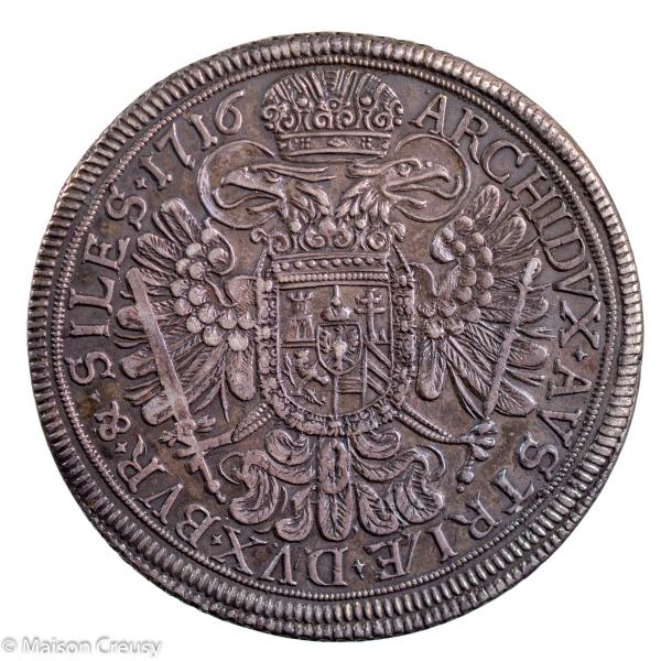 Autriche Charles VI Thaler 1716 Breslau