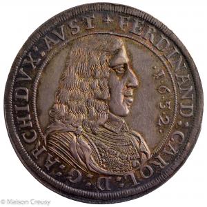 Autriche Ferdinand Charles Thaler 1652 Hall