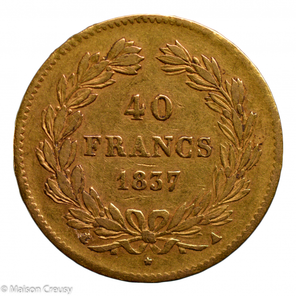 Louis Philippe 40 francs 1837 Paris