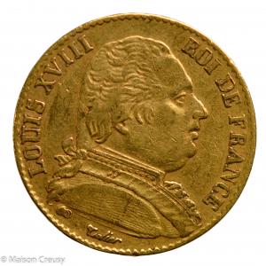 Louis XVIII 20 francs 1815 Rouen