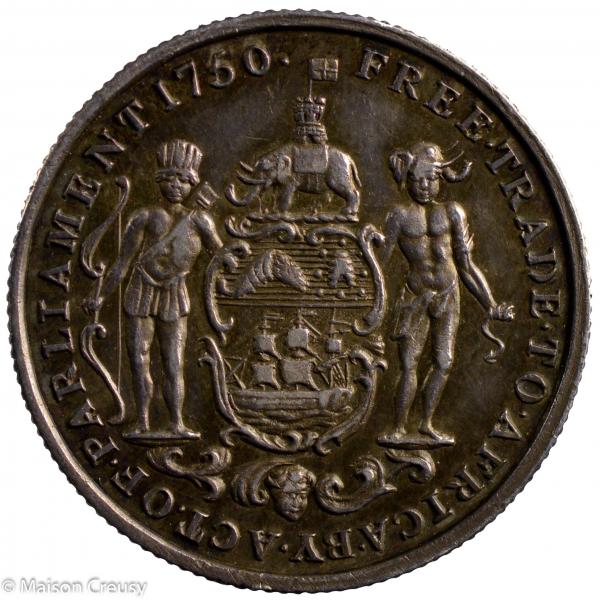 Cote de l'or britannique 1/2 hackey 1818