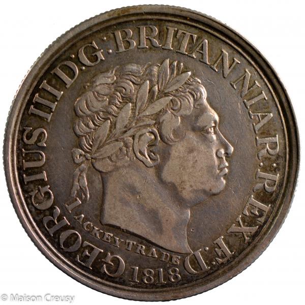 Cote de l'or britannique Ackey 1818