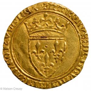Charles VI ecu d'or frappé à Angers