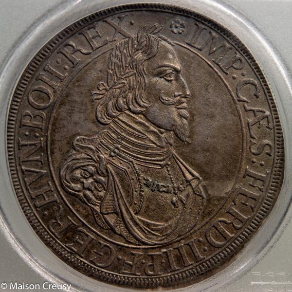 Augsburg Thaler 1642 PCGS MS64