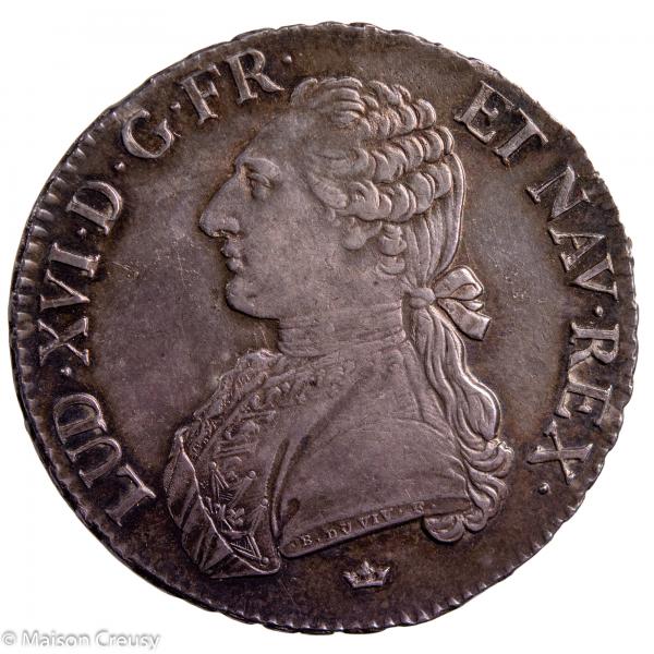Louis XVI écu aux branches d'olivier 1790 Toulouse