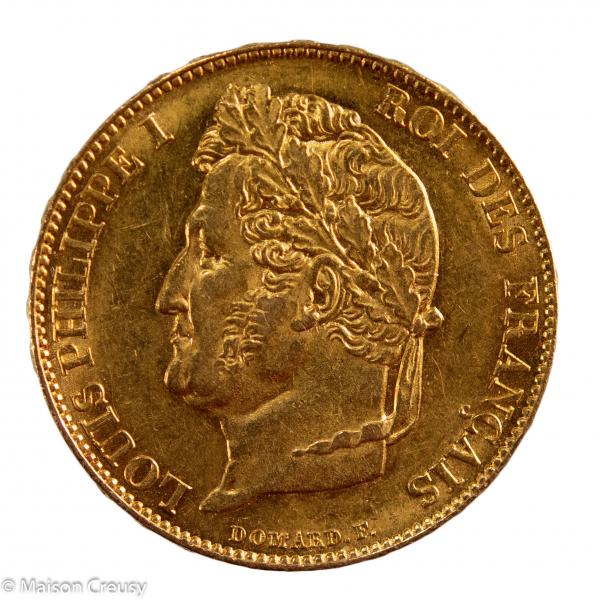 Louis Philippe 20 francs 1848 Paris PCGS AU58
