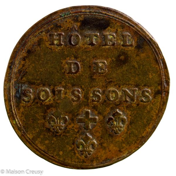 Jeton pré-Maçonnique Ile de France Hotel de Soissons