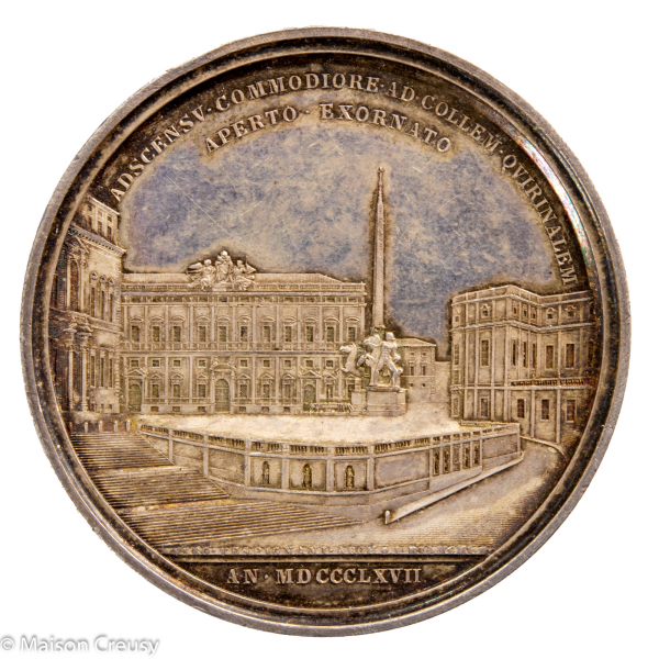Pie IX Medaille annuelle en argent 1867 année 22