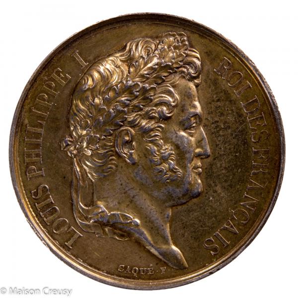 Louis Philippe médaille argent chambre des deputés 1837