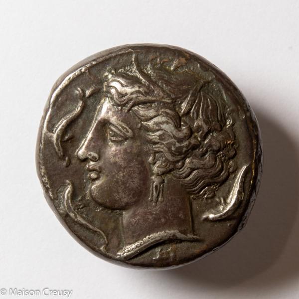 Sicile Syracuse tetradrachme frappé sous Agathokles