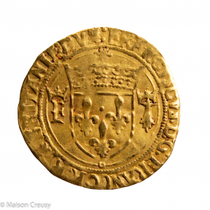 Francois I Ecu d'or de Bretagne frappé à Nantes