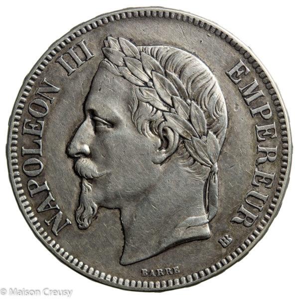 Napoléon III 5 francs 1865 Strasbourg