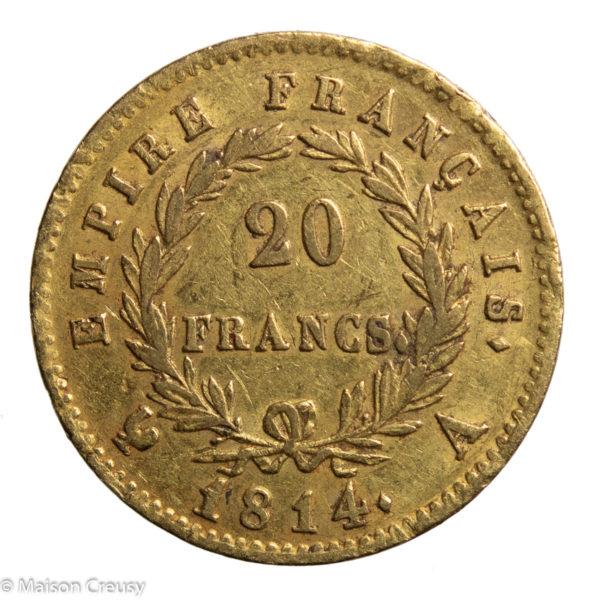 Nap I 20 francs 1814 Paris