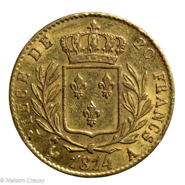 Louis XVIII 20 francs 1814 A