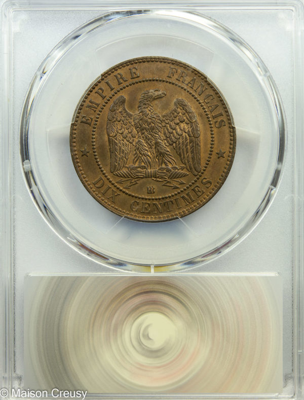 10centimes1861BB-MS65