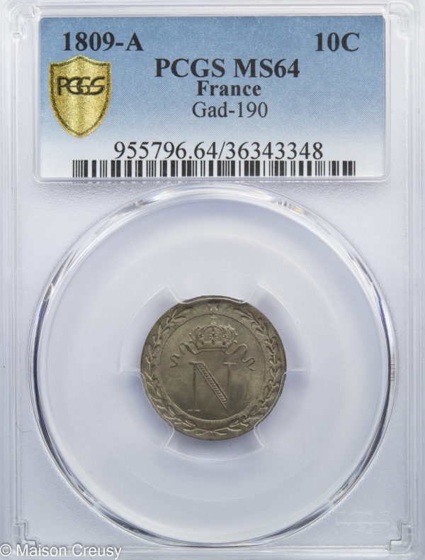 10centimes1809A-MS64