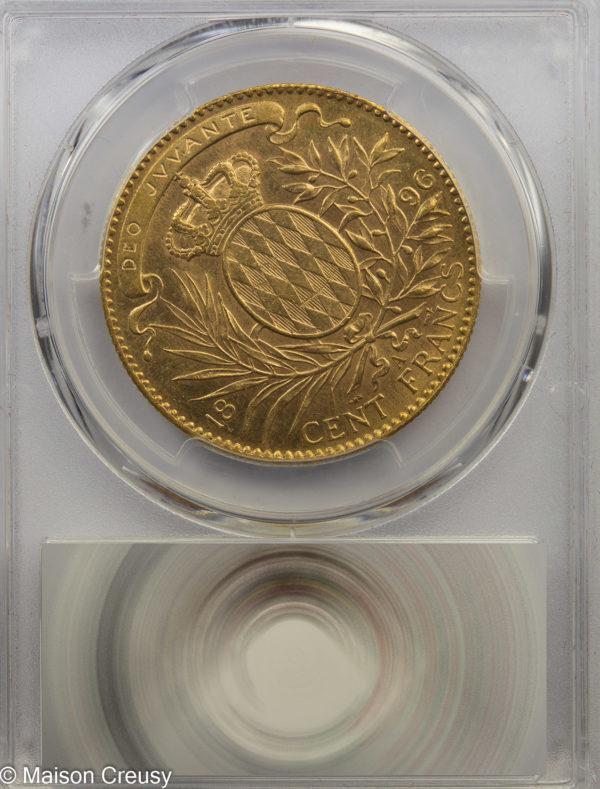Monaco-100francs1896-MS61