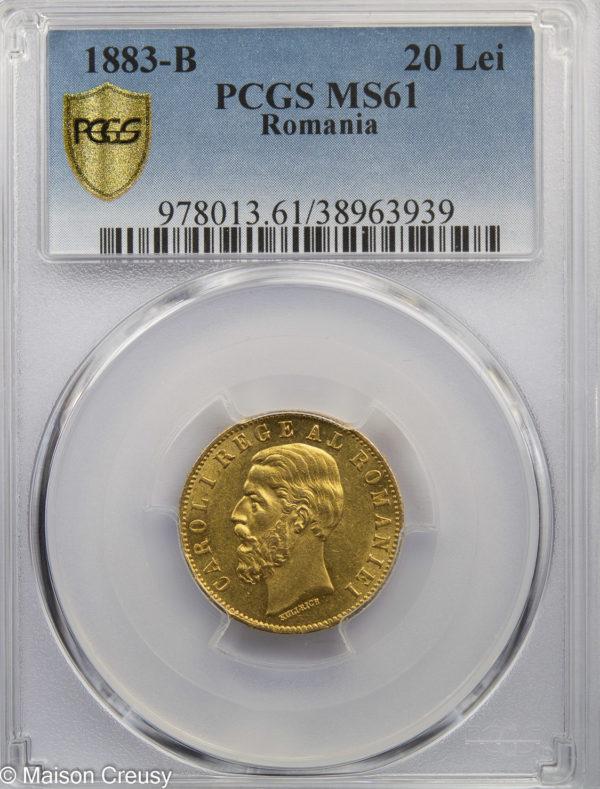 Roumanie20Lei1883B-MS61