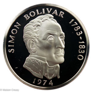 Republic of Panama 20 balboas 1974 proof